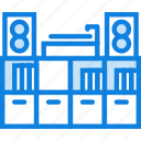 belongings, entertainment, furniture, households, library icon