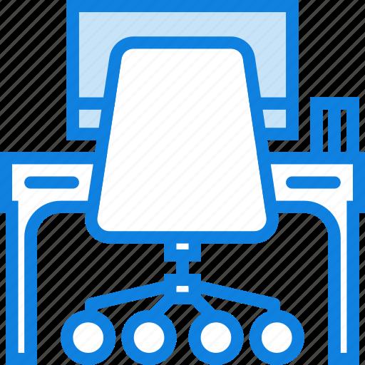 belongings, desk, furniture, households, office icon