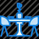 belongings, dining, furniture, households, table