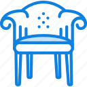 armchair, belongings, furniture, households, victorian icon