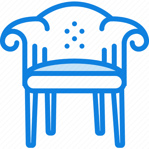 armchair, belongings, furniture, households, victorian icon