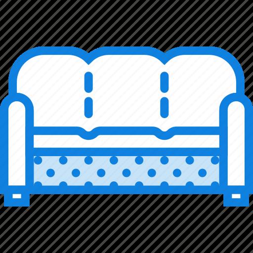 belongings, furniture, households, seated, sofa icon