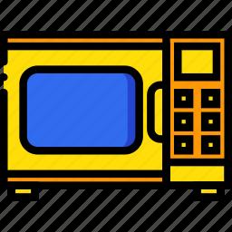 belongings, furniture, households, microwave icon