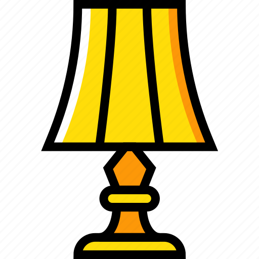 belongings, furniture, households, lamp, living, room icon