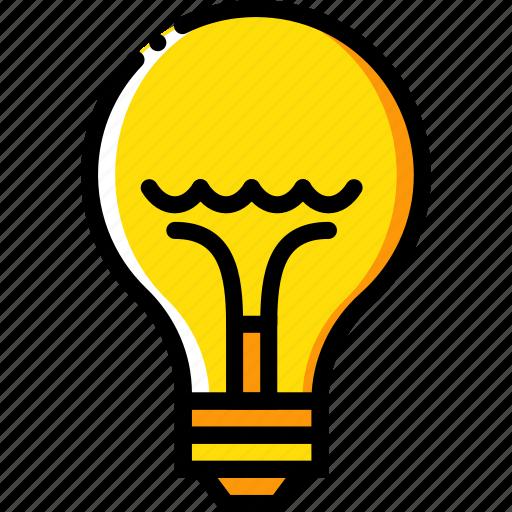 belongings, bulb, furniture, households, light icon