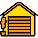 belongings, door, furniture, garage, households icon