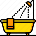 bath, belongings, furniture, households, tub icon