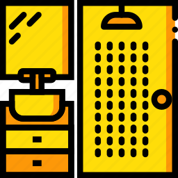 belongings, furniture, households, shower icon