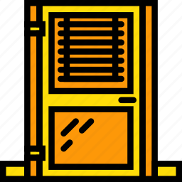 belongings, door, furniture, households, office icon