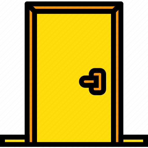 belongings, door, furniture, households icon