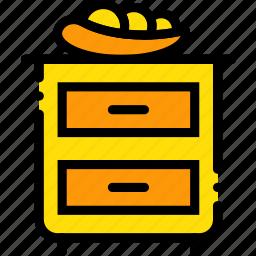 belongings, furniture, households, nightstand icon