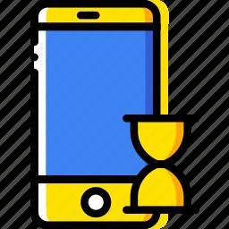 communication, interaction, interface, loading, smartphone icon