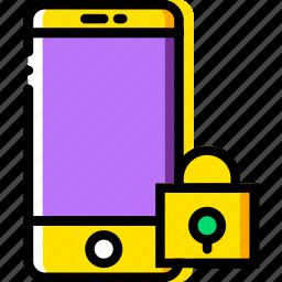 communication, interaction, interface, lock, smartphone icon