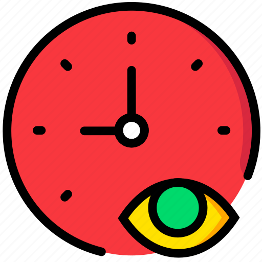 clock, communication, hide, interaction, interface icon