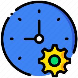 clock, communication, interaction, interface, settings icon