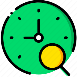 clock, communication, interaction, interface, search icon