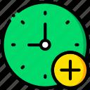 add, clock, communication, interaction, interface icon