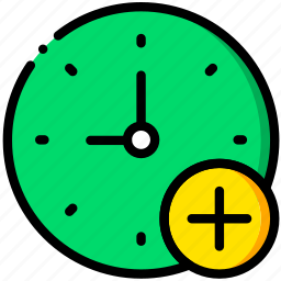 add, clock, communication, interaction, interface icon