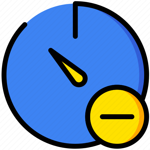 communication, interaction, interface, stopwatch, substract icon