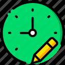 clock, communication, edit, interaction, interface icon