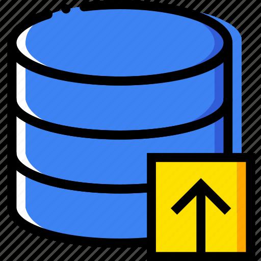 communication, database, interaction, interface, upload icon