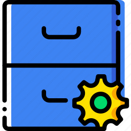 archive, communication, interaction, interface, settings icon