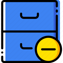 archive, communication, interaction, interface, substract icon