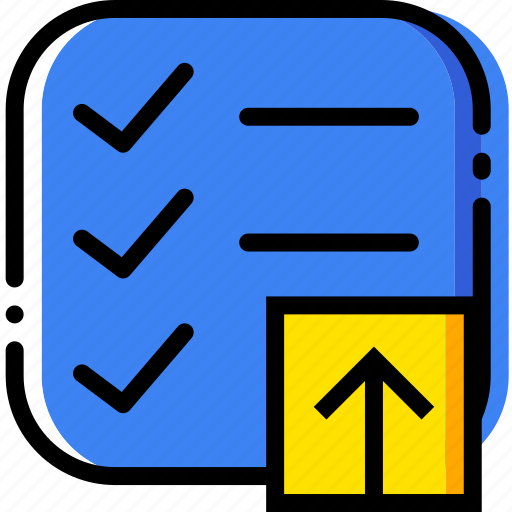 communication, do, interaction, interface, list, to, upload icon