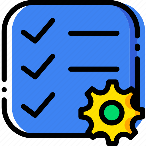 communication, do, interaction, interface, list, settings, to icon