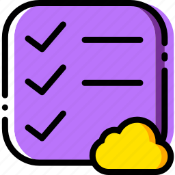 add, cloud, communication, do, interaction, interface, list icon