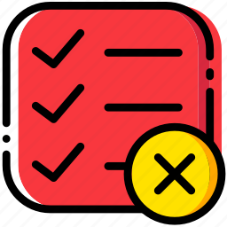 communication, delete, do, interaction, interface, list, to icon