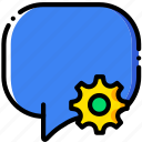 communication, conversation, interaction, interface, settings