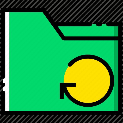 communication, folder, interaction, interface, refresh icon
