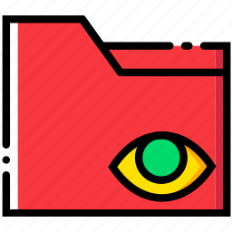 communication, folder, hide, interaction, interface icon