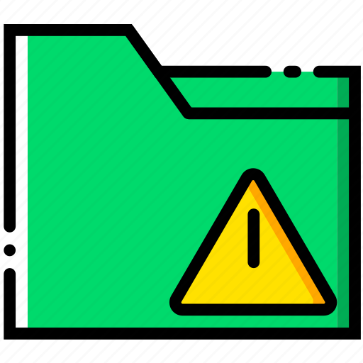communication, folder, interaction, interface, warning icon