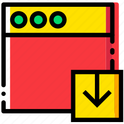 communication, download, interaction, interface, window icon