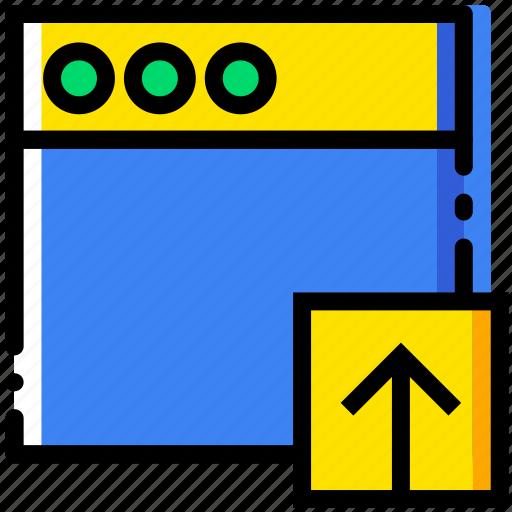 communication, interaction, interface, upload, window icon