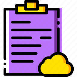 add, cloud, communication, interaction, interface, notes, to icon