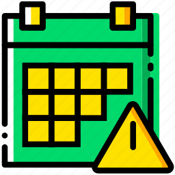 calendar, communication, interaction, interface, warning icon