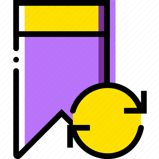 bookmark, communication, interaction, interface, sync icon