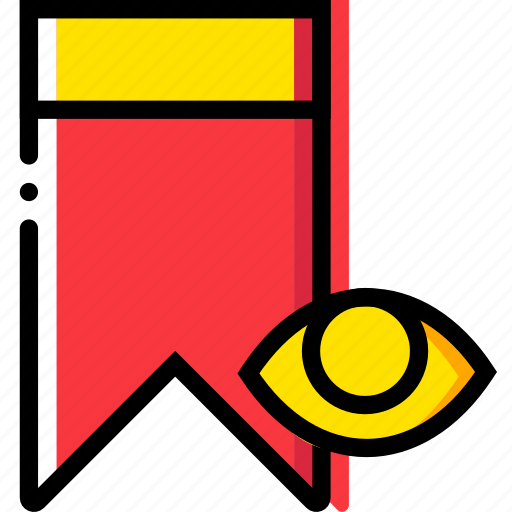 bookmark, communication, hide, interaction, interface icon