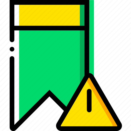bookmark, communication, interaction, interface, warning icon