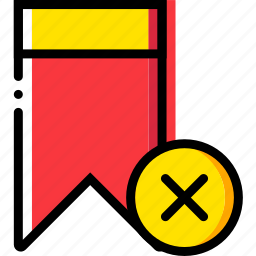 bookmark, communication, delete, interaction, interface icon