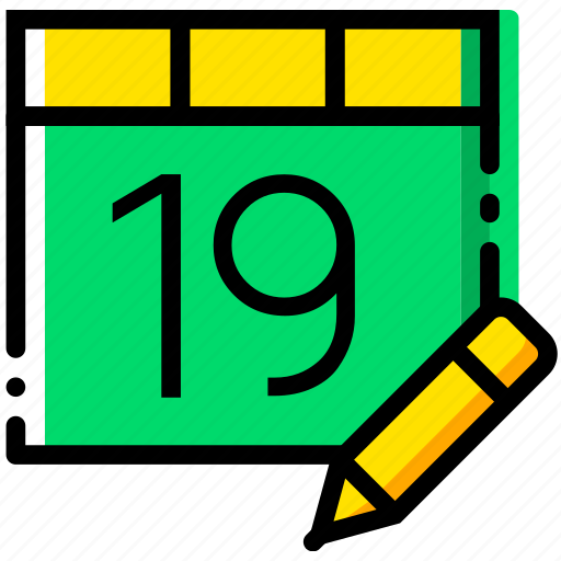 calendar, communication, edit, interaction, interface icon