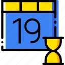 calendar, communication, interaction, interface, loading icon
