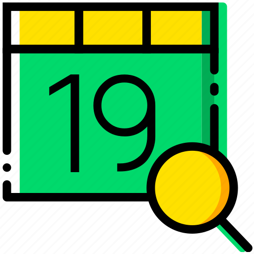 calendar, communication, interaction, interface, search icon