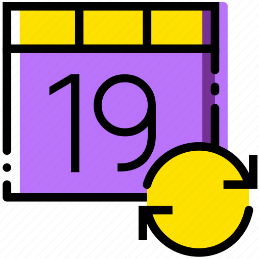 calendar, communication, interaction, interface, sync icon