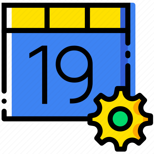 calendar, communication, interaction, interface, settings icon