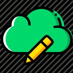 cloud, communication, edit, interaction, interface icon