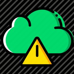 cloud, communication, interaction, interface, warning icon